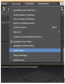 Texture in 3Ds Max Software - unit setup option