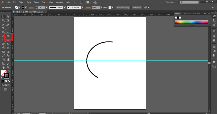 scissor tool in illustrator