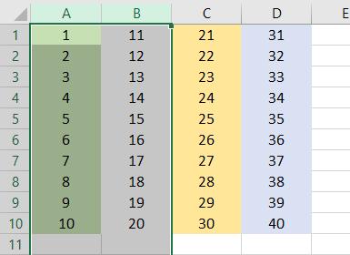 VBA Hide Columns Example 1-2