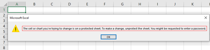 VBA Protect Sheet Example 2-6