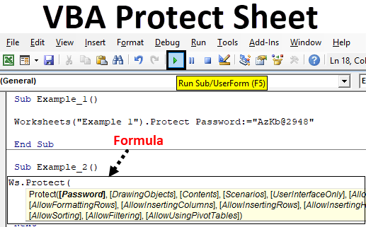 VBA Protect Sheet | How to Protect Sheet in Excel Using VBA ...