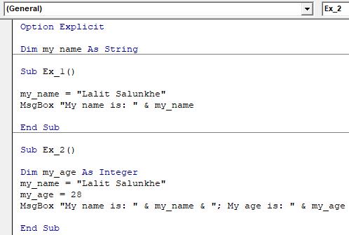 VBA Public Variable Example 1-6