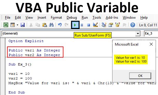 VBA Public Variable