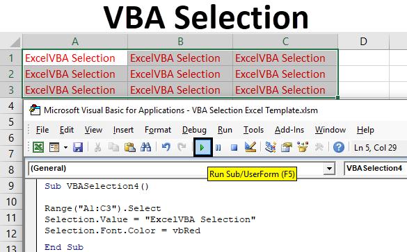 VBA Selection