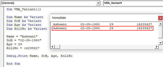 VBA Variant Example 1-11