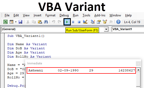 VBA Variant