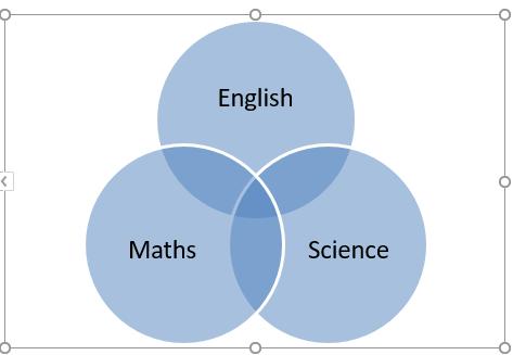 Venn Diagram in Excel 1-5