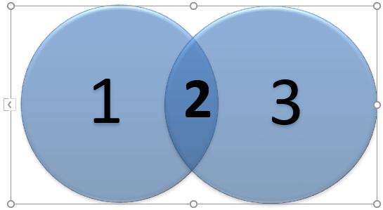 Venn Diagram in Excel -Union 5