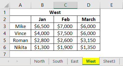 Consolidation in Excel 1-4