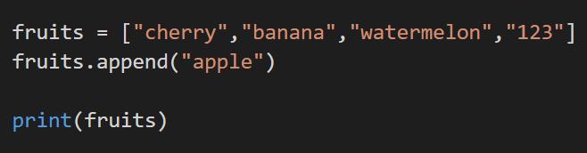 appending code