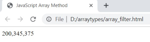 Arrays filers