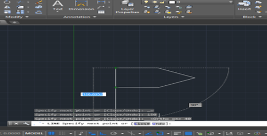 close the image in lines cad