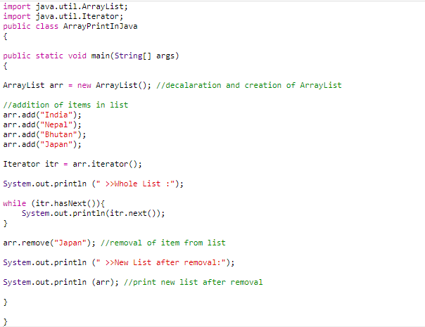 code 7 (print array in java)