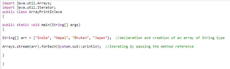 code 8 (print array in java)