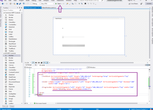 code added to the properties (Data Binding in ASP.NET)