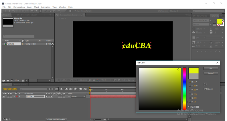 Text Animation in After Effects 4