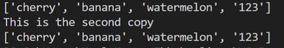 copy output