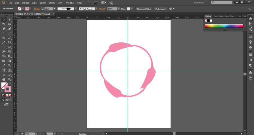 copy of the shape in illustrator