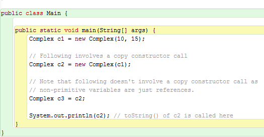 Copy Constructor In Java