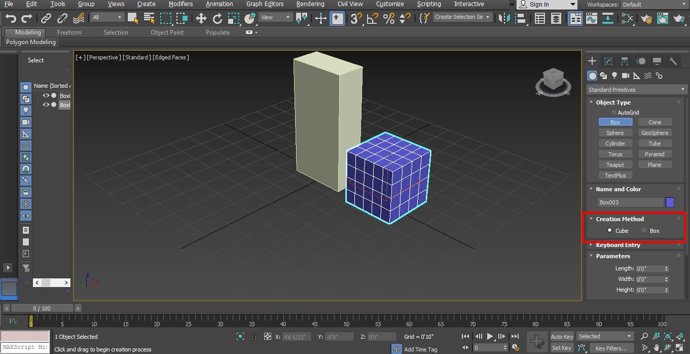 creacation method in box shop