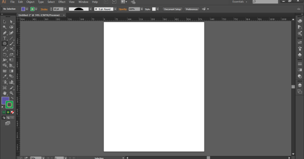 new file in illustrator
