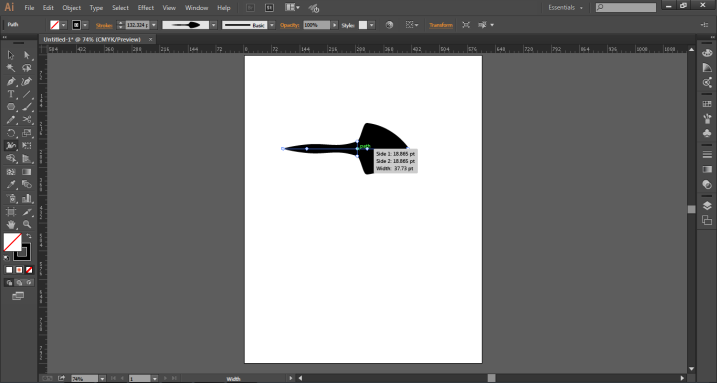 create anchor points (width tool in illustrator)