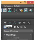 Texture in 3Ds Max - Create Tab