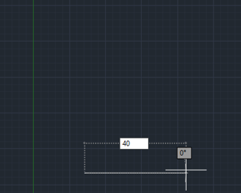 direction and lenght 40mm (lines in AutoCAD)
