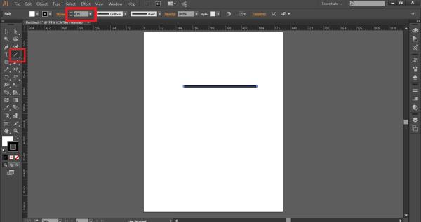draw a stroke (width tool in illustrator)