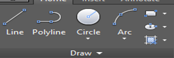 Line Tool in AutoCAD Toolbar