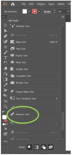 Measure Tool in Illustrator 3