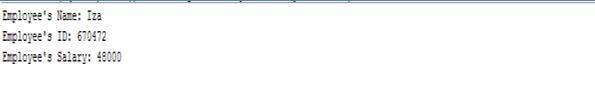 encapsulation in java output3