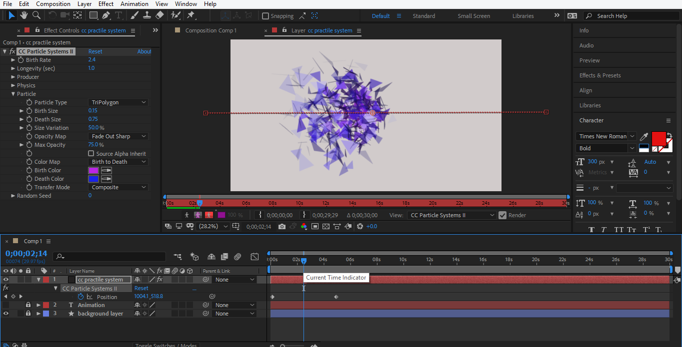 final animated object in after effects