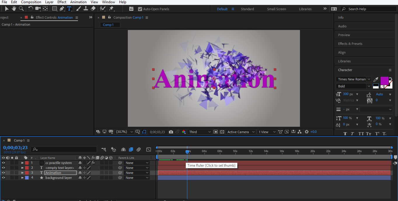 final animation in after effects