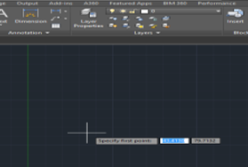 give first point (lines in AutoCAD)