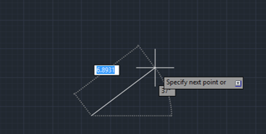 give direction cad (lines in AutoCAD)