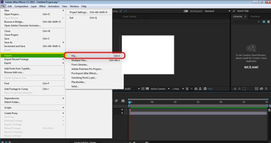 Blending Modes In After Effects - importing an image