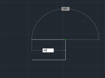 horizontal position 60mm (lines in AutoCAD)