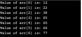 Passing Whole Array Output