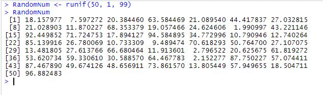 Random Number R