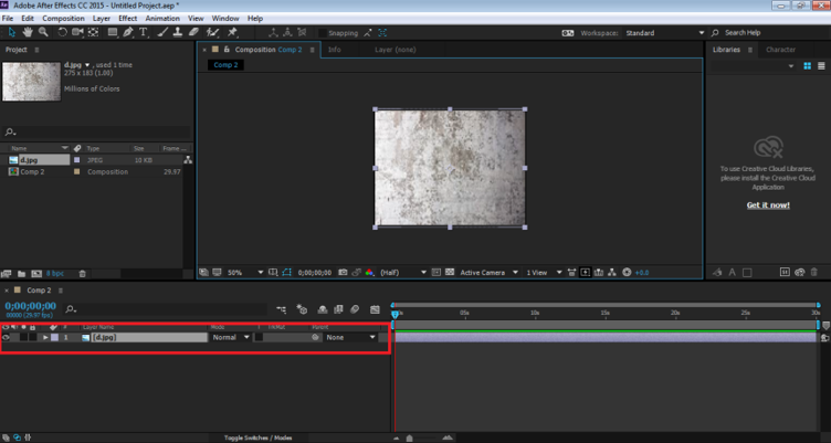 Blending Modes In After Effects - images in timeline panel