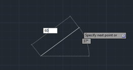 lenght 60mm (lines in AutoCAD)