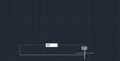 length of 60mm (lines in AutoCAD)