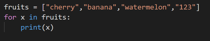 looping code