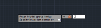 Lines in AutoCAD - lower limit corner