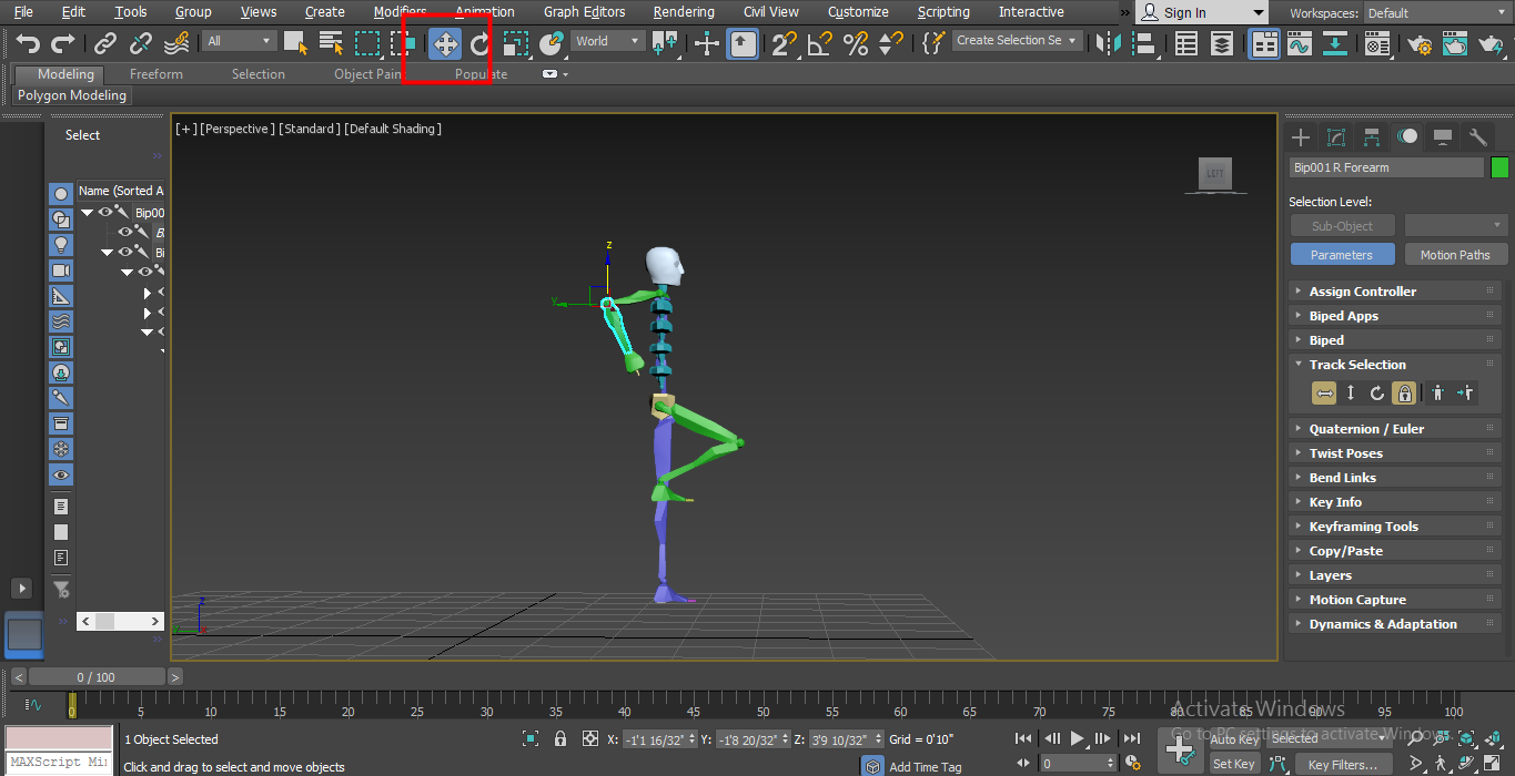 make normal moves (Biped in 3ds Max)