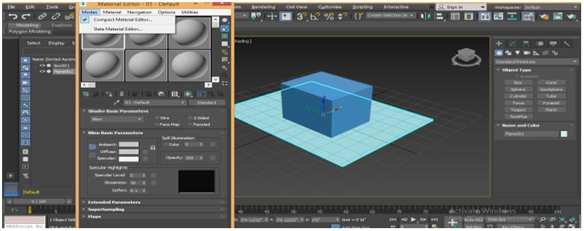 material editor dialog box