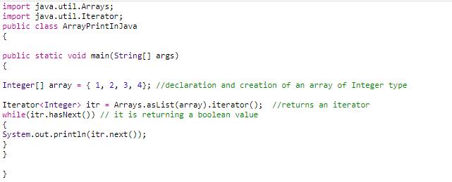 method 6 print array in java