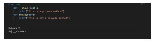 Encapsulation in Python - non-public 2