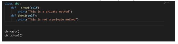 Encapsulation in Python - non public mthd